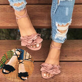 Women Strappy Lace Up Fashion Summer Beach Causal Sandals