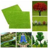4ピース/セット鉄道模型レイアウトグリーングラスマット25x25cm HOスケール風景芝装飾