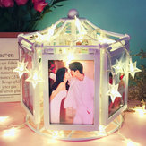 Rotating Music Box Photo Frame Picture Display for 12 photos Wedding Graduation