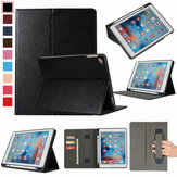 Bakeey PU Leather with Card Slots Pen Slot Hand Holder Strap Tablet Protective Case Cover for iPad 2017 / 2018 9.7 inch