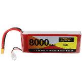 ZOP Power 7,4 V 8000 mAh 75C 2S Lipo-batterij XT60-stekker voor RC-vliegtuigauto