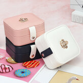 Earrings Jewelry Storage Box Leather Jewelry Box