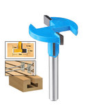 Drillpro 1/4*1-3/8 Inch T Slot Router Bit Straight Shank T-Track Woodworking Cutter