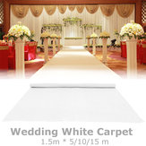 5/10/15m White Carpet Runner Wedding Party Aisle Floor Mat Exhibition Festival Roll