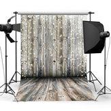 3x5FT 5x7FT 6x8FT Grey Wooden Wall Floor Snowfall Photography Backdrop Background Studio Prop - 0.9x1.5m