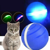 Pet Toys Ball Waterproof Bite Resistant LED Flash 360 Degree Automatic Rotation Pet Fun Ball For Cat Dog