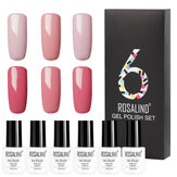 ROSALIND 6Pcs Nail Gel Set Pure Colors UV Nail Gel Polish