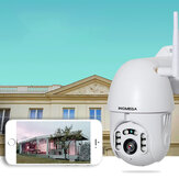 INQMEGA PTZ381 HD 1080P PTZ 360 ° Panoranic Waterproof IP Camera IR Versi Malam Audio dua arah