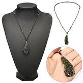 Derretimento Moldavita Quartzo Pingente Cristais Colar De Pedras Preciosas Espécime De Cura 20g