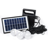 6V USB LED Bulbs Solar Panel Light System Outdoor Garden Camping Emergency Lantern