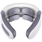 4 Kafa USB Servikal Masaj Aparatı Boyun Elektrikli Masajr Aparatı Çok Fonksiyonlu Boyun Titreşim Darbe