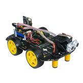 Xiao R DIY 4WD Micro: Bitowa aplikacja do śledzenia programów / Kontrola podczerwieni Unikanie przeszkód Inteligentny samochód RC
