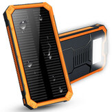 Waterproof 8000mAh Portable Solar Charger Dual USB Battery Power Bank