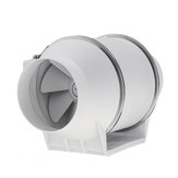 98mm 3.9Inch Dia Air Inline Duct Fan Vent Mixed Flow Blower Hydroponic Ventilation Fan