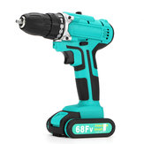 68FV Household Lithium Electric Screwdriver 2 Speed Impact Power Drills Rechargeable Drill Driver W/ 1 Li-ion Batteries