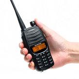 Baofeng UV-990 Walkie Talkie Triple 10W Dual PTT VHF UHF Dual Band Ham CB Radio Two Way Audio Black