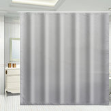 Waterproof Grey Shower Window Curtain Bathroom Drape Hotel Home Decor Fashion