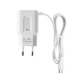 REMAX RP-U22 2.4A LED Dual USB Ports Extra Cable EU Plug Wall USB Travel Charger for iPhone 11 Pro Max for Samsung S10+ K30 5G HUAWEI