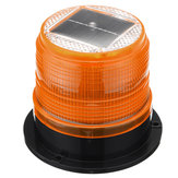 Original              12V Round Roof Solar LED Magnetic Beacon Light Emergency Warning Strobe Yellow IP65 Waterproof