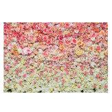 3x5FT 5x7FT Vinil Pembe Sarı Gül Çiçek Zemin Fotoğraf Arka Plan Stüdyo Prop