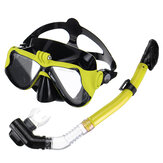Full Face Diving Maschera Snorkel Scuba Swimming Snorkeling a secco Set respiro libero