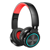 Picun B12 Foldable bluetooth 5.0 Headphone RGB Light Strong Bass Volume Control Headset With Mic for Mobile Phones