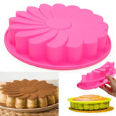 9'' Silicone Flower Cake Chocolate Bread Mould Bakeware Pan Cake Pan Baking Tool