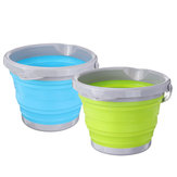 5/10L Folding Silicone Collapsible Water Bucket Camping Outdoor Fishing Pot