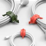 Bcase 4 pièces multi-fonction dinosaure réglable câble USB écouteur fil bobine enrouleur de câble organisateur