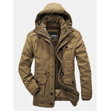 MensReversible Winter Outdoor dicke warme Big Size Jacke