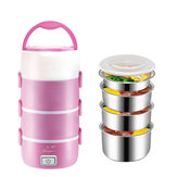 2.2L 4 Layers Stainless SteelElectric Lunch Box Mini Rice Cooker Food Warmer