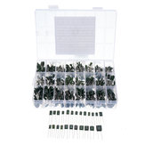 660pcs 24Value Capacitor Kit 100V 2A221J to 2A474J Polyester Film Capacitor Assorted Kit 0.47nF 0.68nF 1nF 2.2nF Capacitors