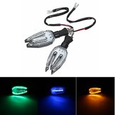Universal 12 V LED Motocicleta / Moto Indicadores de Sinal de Turno Luzes Blinker Lâmpada 5 cores