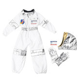 Childs Kids Astronaut Costume Space Suit Criança Astronaut Role Play Adereços