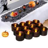 12PCS Battery Operated Halloween Party Decoration Electronic Flickering LED Candle Light