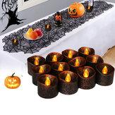 12 SZTUK Zasilany bateryjnie Halloween Party Decoration Elektroniczne migotanie światła świec LED