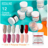 ROSALIND 3 In 1 Dipping Powder Set Acrylic Powder Untuk Paku