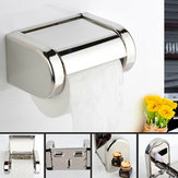 Stainless Steel Chrome Toilet Bathroom Wall Mounted Roll Paper Shelf Holder Tissue Box Holder