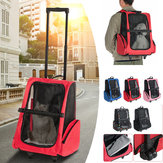 2 In 1 Pet Carrier Backpack Dog Cat Puppy Cart Tas Travel Bernapas Luar Ruangan