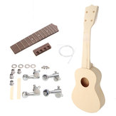 21 Inch Maple wood Hand-assembled Painting Ukulele with Accessories for Ukulele DIY