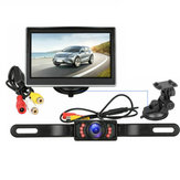 5 Inch 170 Degree Car Wireless LCD Monitor Reverse Backup Camera and Monitor Kit Auto DVD Player Night Vision Waterproof