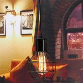 Εκλεκτής ποιότητας βιομηχανικό κρεμαστό φως οροφής Λαμπτήρας σκίασης μεταλλικό κλουβί Black Cafe Loft Bar