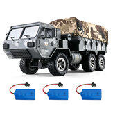 Eachine EAT01 1/16 2.4G 6WD RC Car Proportional Control US Army Military Off Road Rock Crawler Truck RTR Modello di veicolo W / Diversi Batteria