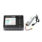 ToolkitRC & URUAV M600 150W 10A DC MINI Smart LCD 1-6S Lipo Batterie Chargeur Déchargeur en fibre de carbone avec alimentation LANTIAN 24V 16.6A