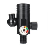 Schwarzes S400 + First Level Luftdruck-Reduzierventil für 1L-Sauerstoffflaschen
