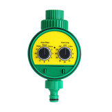 Garden Irrigation Timer Two Dial Electronic Water Controller Home Plant Flower Automatic Timing Tool Waterproof