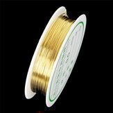 2-1.0mm Craft Frezowanie Drut Złoty drut miedziany do bransoletki Naszyjnik Biżuteria Akcesoria do majsterkowania
