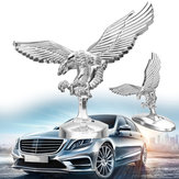 Anjo do emblema 3D Eagle Auto capa dianteira do carro Chrome Hood Ornament Badge Bonnet