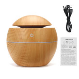 USB LED Colorful Light Ultrasonic Air Humidifier Wood Grain Aroma Essential Oil Diffuser for Office Home