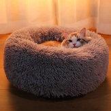 40-100cm مستلزمات الحيوانات الأليفة بيت الكلب جولة أفخم عش الحيوانات الأليفة مبطن Soft الدافئة للقط السرير وسادة حصيرة